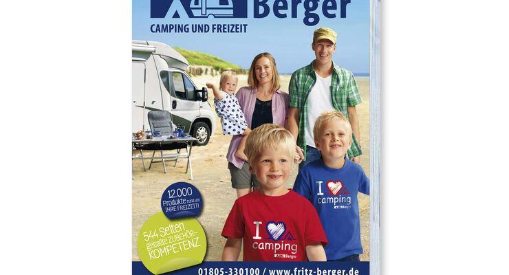 Der neue Hauptkatalog des Camping- und Freizeitartikelspezialisten Fritz Berger bietet auf 544 Seiten mehr als 12.000 Top-Produkte von A bis Z rund um Camping, Caravan und Freizeit.