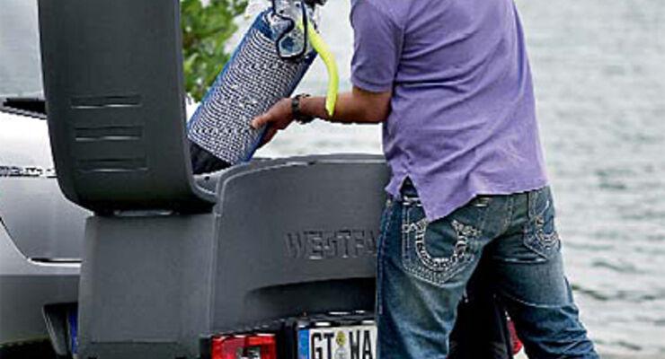 Fahrradträger Portilo Westfalia ein Transport system wohnanhänger caravan