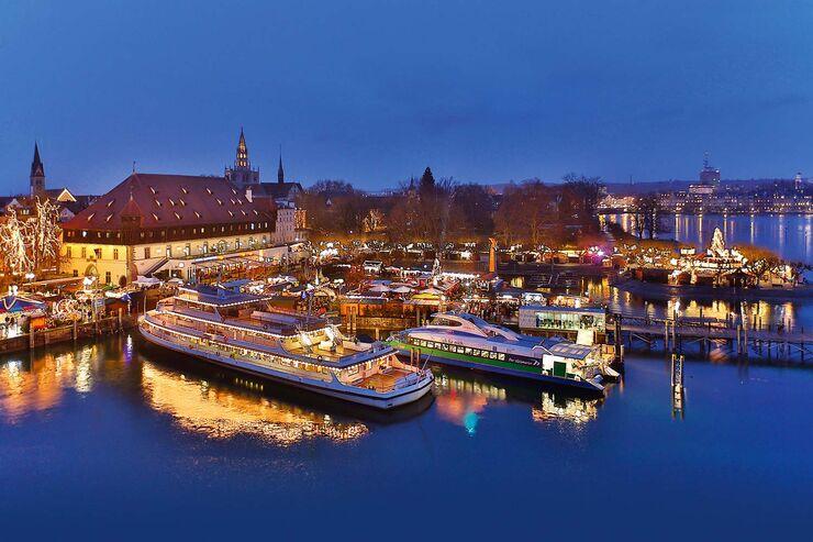 Grandioses Ambiente: Weihnachtsmarkt in Konstanz.