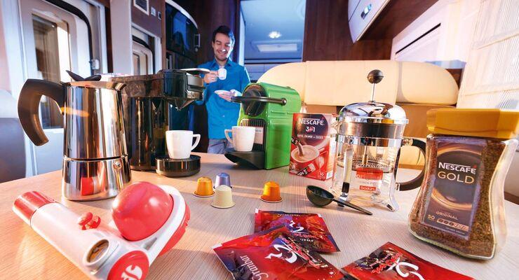 Kaffee im Wohnmobil