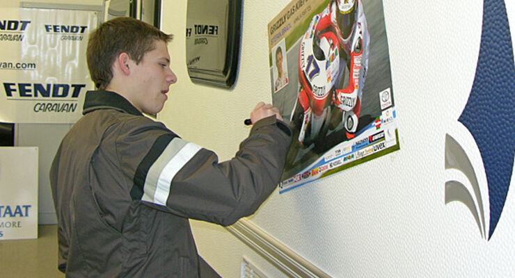 Stefan Bradl Motorrad Rennsport Fendt Caravan CMT Wohnwagen