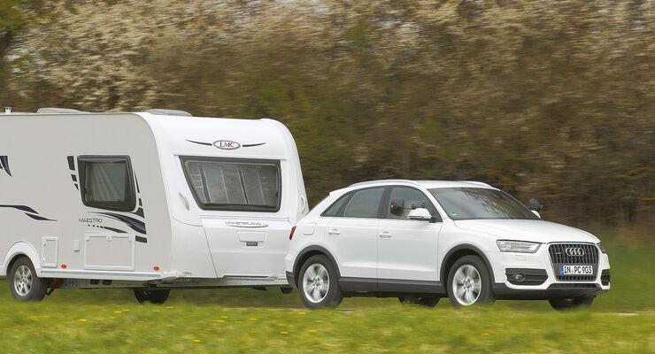 Zugwagen-Test: Audi Q3, Gespann