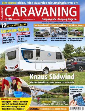 CARAVANING Cover September 2016