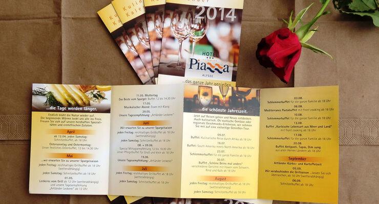 Das Restaurant Piazza Alfsee startet zum ersten Mal mit einem kulinarischen Evntkalender in die Saison.