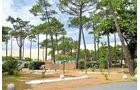 Der Campingplatz La Forêt mit vielen schattigen Pinien