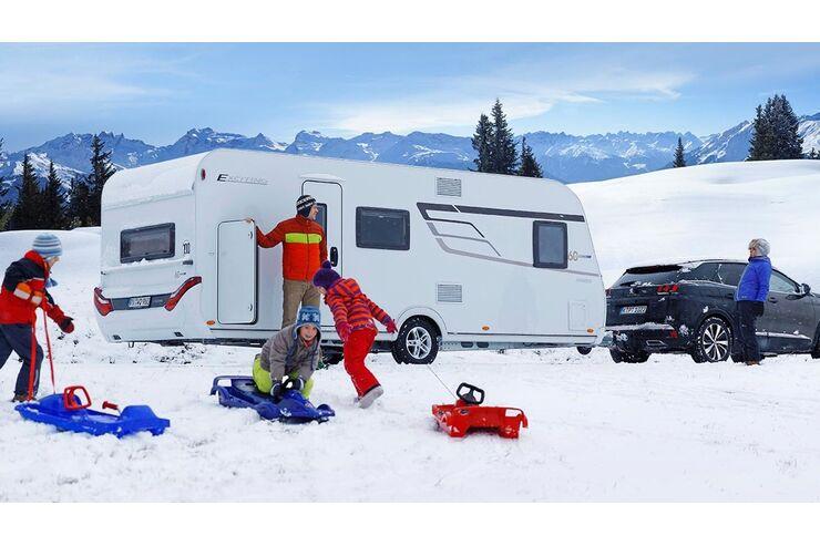 wintercaravans winterpakete und winterfeste wohnwagen. Black Bedroom Furniture Sets. Home Design Ideas
