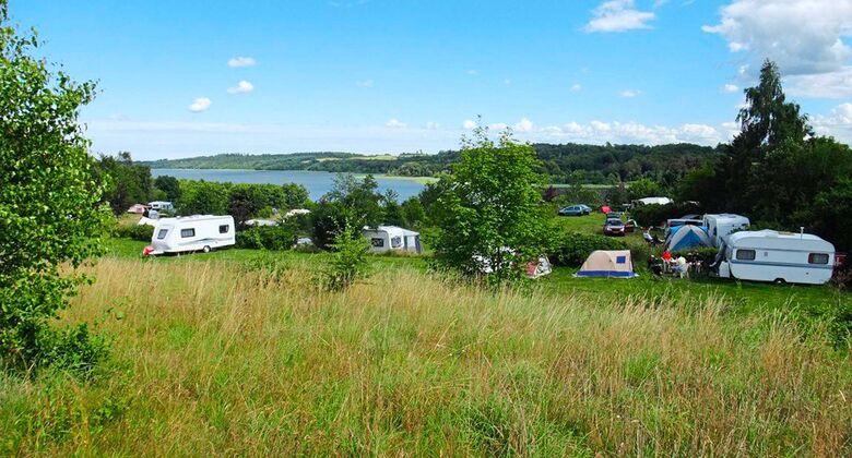 Eine schöne Lage im Grünen und am Tjele-Langsø-See zeichnet diesen Campingplatz aus. Die Betreiber schaffen eine familiäre Atmosphäre.