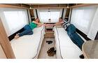 Einzelbetten im Caravan