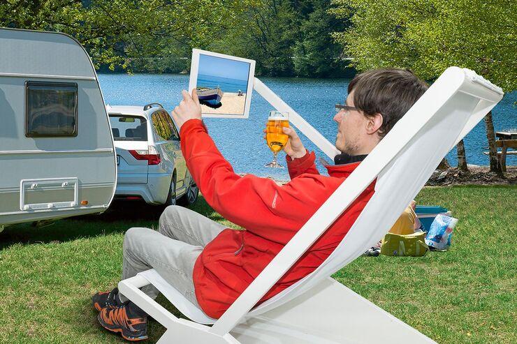Fernsehen auf Camping-Tour