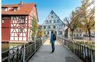 """Forchheim hat nicht nur schöne Fachwerkhäuser, sondern mit dem """"Kellerwald"""" einen riesigen Biergarten."""