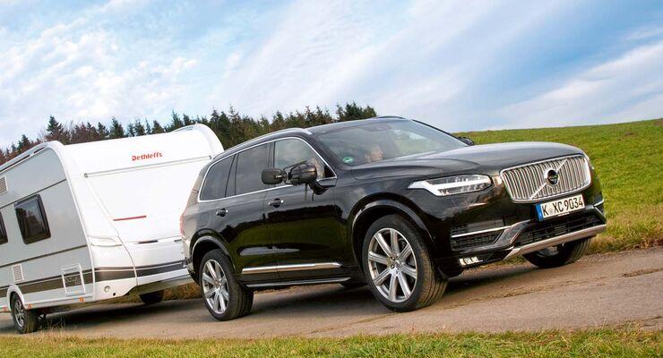 Volvo Xc90 D5 Awd Im Zugwagen Test Schweden Suv Caravaning