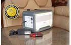Ladeadapter für 12-Volt- und 230-Volt-Steckdosen liegen bei.