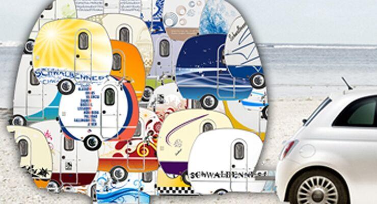 """Neues Design für's """"Schwalbennest"""" gesucht. Als Gewinne fürs Abstimmen winken 3 Knaus Caravans im Wert von knapp 20.000 Euro"""