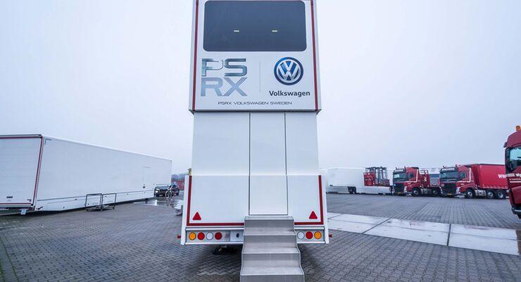 Racetrailer Petter Solberg hinten