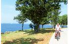 Radweg in Istrien