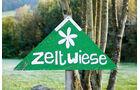 Schild zur Zeltwiese