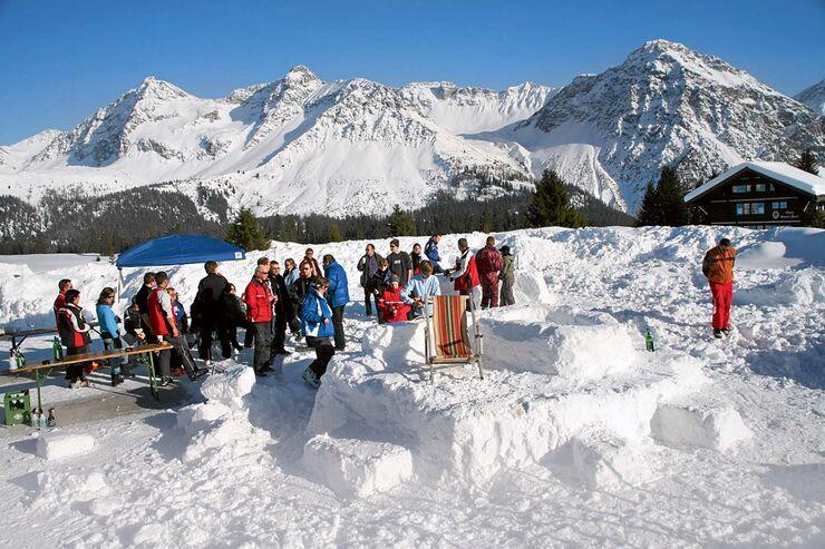 Schneebar bauen