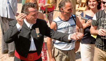 Sherry aus Jerez, ausgeschenkt in schlanken Gläsern