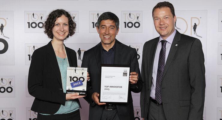 """Truma hat Anfang Juli 2013 eine besondere Auszeichnung erhalten: den Innovationspreis """"Top 100""""."""