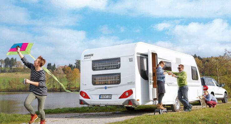 Wohnwagen Mit Etagenbett Und Doppelbett : Der knaus südwind fsk im test ein familien wohnwagen caravaning