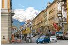 Vom Corso Nizza in Cuneo hat man einen grossartigen Blick auf die Alpen.